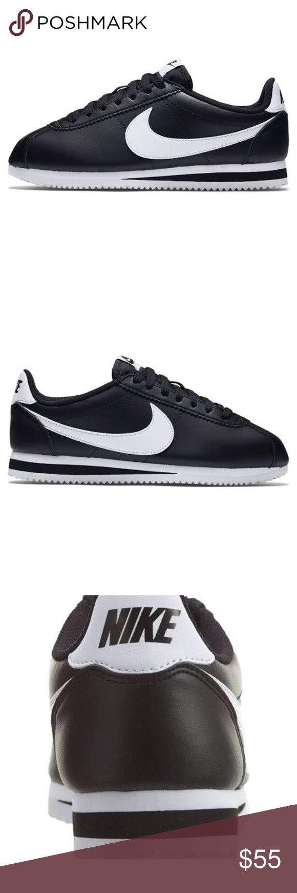 Women's Nike Cortez BRAND NEW IN BOX Womens Nike Classic Cortez - Black/White/Black : Indulge in iconic Nike sneakers with the Classic Cortez. Full-grain leather upper. Classic herringbone outsole for comfort and traction. *got these as a gift they are brand new in box and have never been worn! Nike Shoes Athletic Shoes