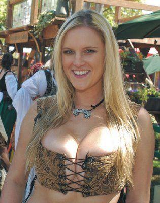 Bondage model with pierced nipples