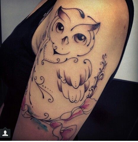 Owl tattoo, I want this :).... YESSSSSSS. I NEED this