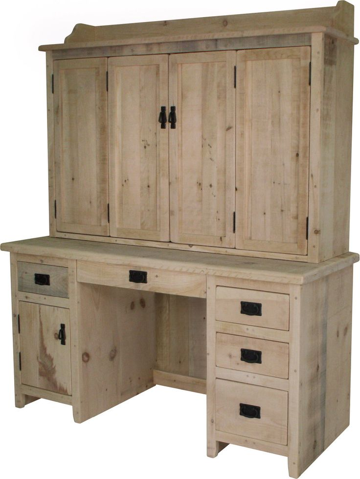 Desk With Enclosed Hutch Office Furniture Pinterest
