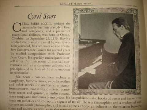 Composer Cyril Scott plays Danse Negre on Duo-Art Piano Roll - YouTube