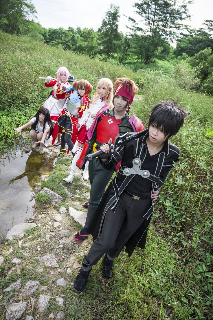 Sword Art Online Yui, Lisbeth, Silica, Asuna, Klein, Kirito
