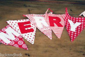 DIY Merry Christmas Fabric Bunting