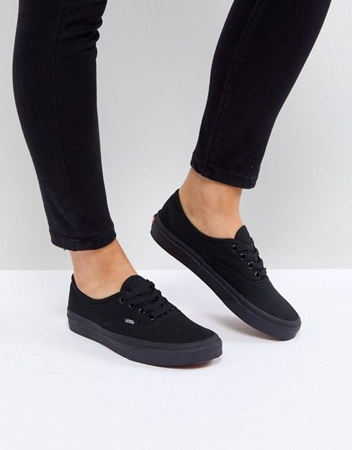 Vans Authentic Sneakers In All Black  4db193835