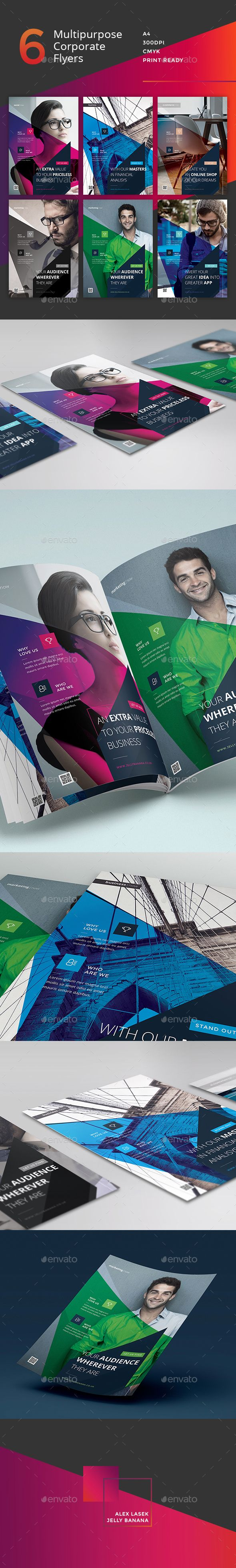 Corporate Flyer - 6 Multipurpose Business Template PSD #design Download: http://graphicriver.net/item/corporate-flyer-6-multipurpose-business-template/13721438?ref=ksioks