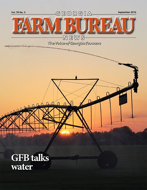 Our Georgia Farm Bureau News magazine for September 2016.  It features news about Georgia agriculture and agribusiness, as well as other features of interest to farmers and consumers.