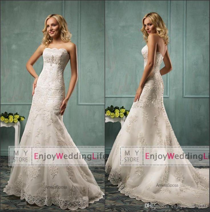 Best 118 Wedding Dresses &Bridal Gowns ideas on Pinterest | Short ...