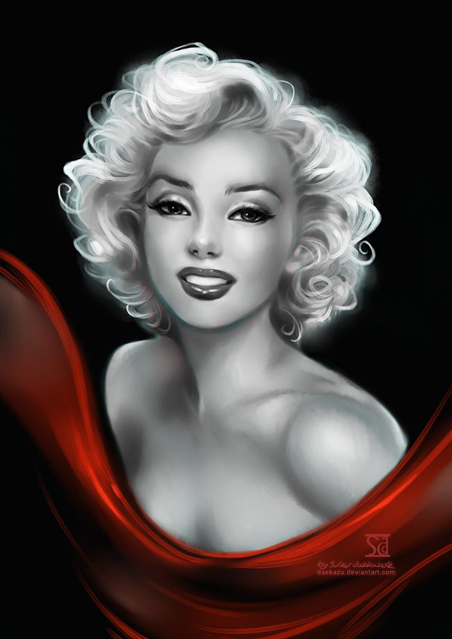 Marilyn by `daekazu on deviantART | This image first pinned to Marilyn Monroe Art board, here: http://pinterest.com/fairbanksgrafix/marilyn-monroe-art/ || #Art #MarilynMonroe