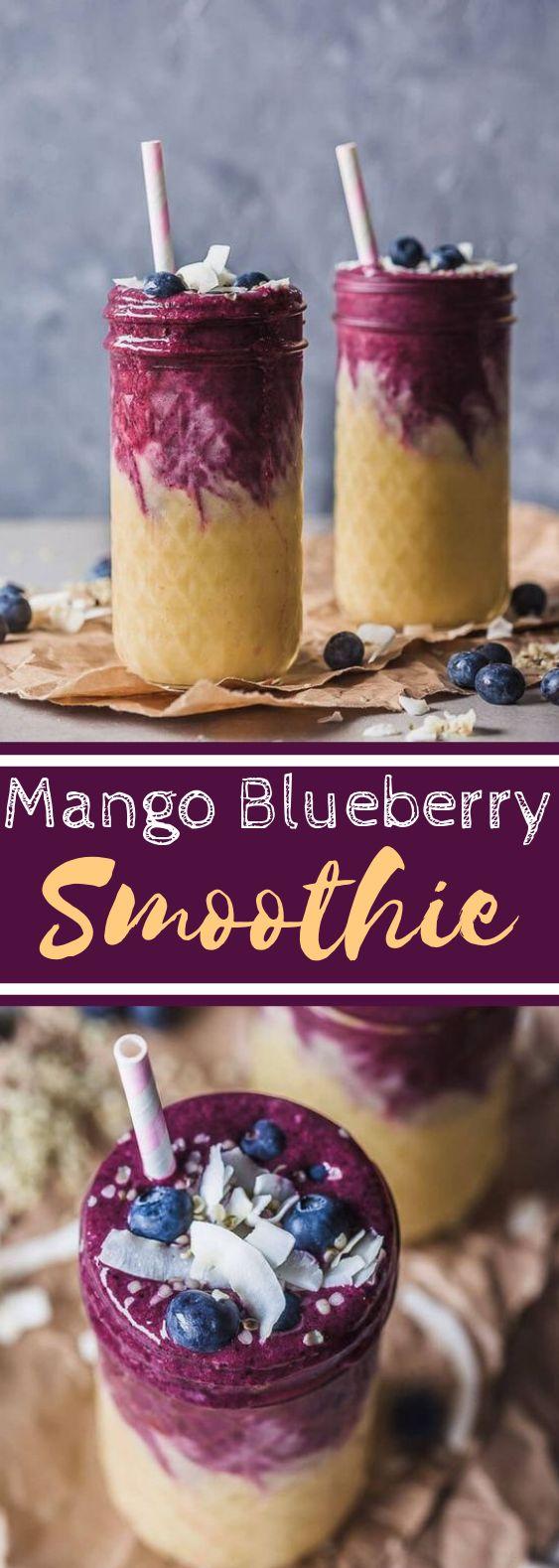 Mango Blueberry Smoothie #smoothies #breakfast