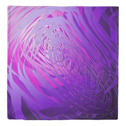 Complex Spiral Purple - Duvet Cover - home gifts ideas decor special unique custom individual customized individualized