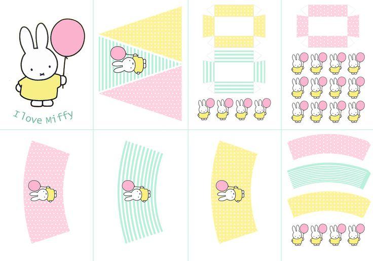 Postreadicción galletas decoradas, cupcakes y pops: Fiesta de Miffy