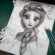 Image result for frozen dibujo a lapiz