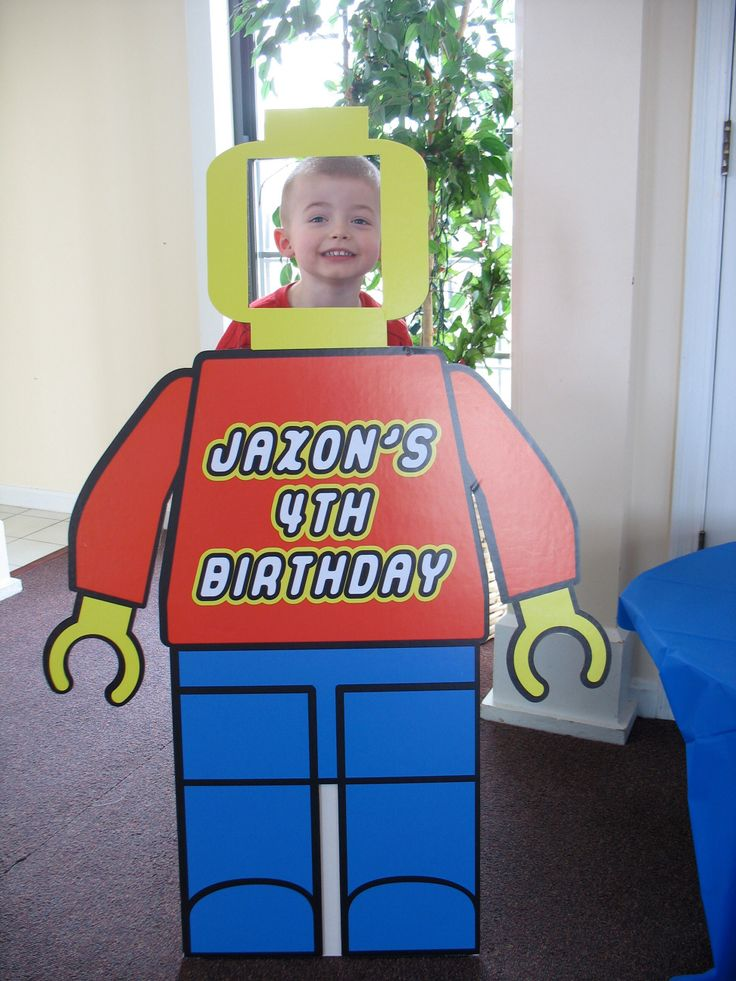 My Son S Birthday Party Lego Game Pin The Head On The