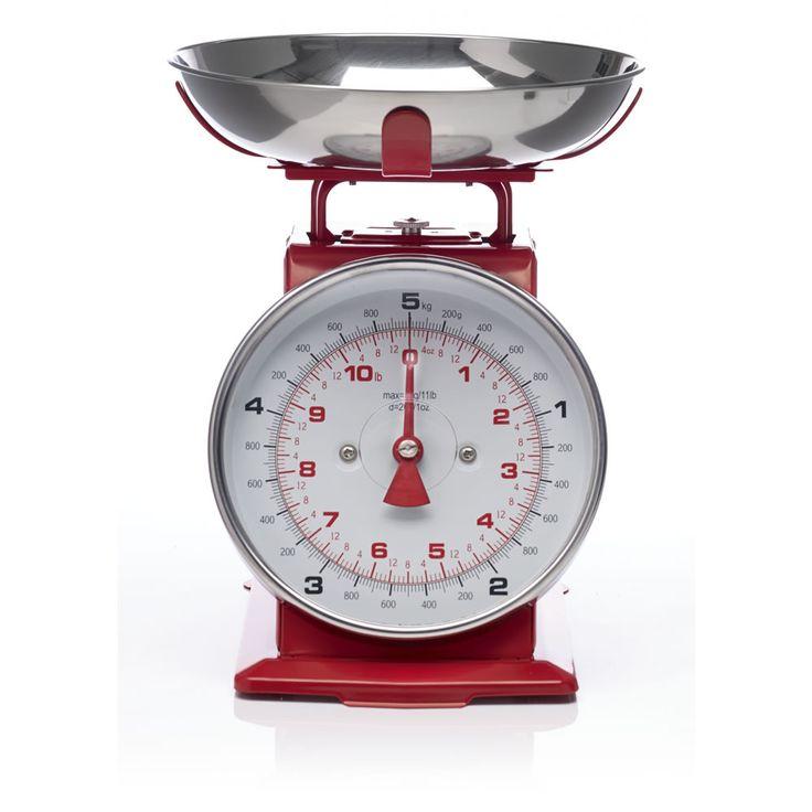 Wilko Kitchen Scales Red