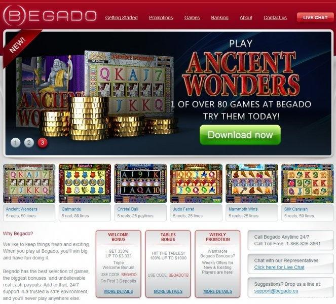 Begado Casino Online New USA friendly casino