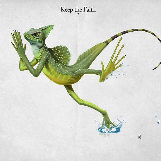 Keep the Faith art | decor | wall art | inspiration | animals | home decor | idea | humor | gifts