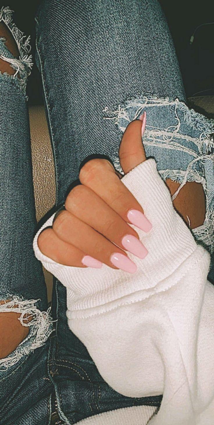 Acrylic Nails Pastel Coffin Quelles sont les dernières tendances vernis à ongl…