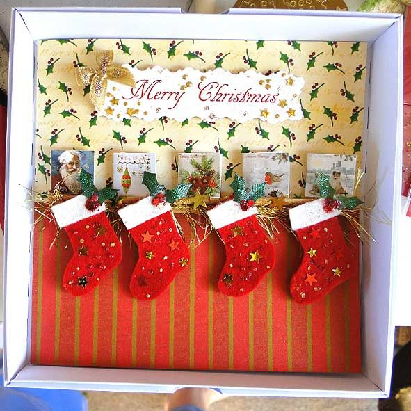 Extra Special Boxed Christmas Card : Xmas Stockings, Unique Greeting Cards, Luxury Handmade Cards, Quality Birthday Cards and Cute Christmas Cards