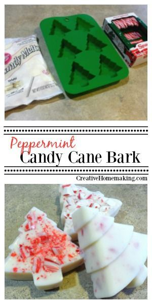 This holiday peppermint or candy cane bark can be made into any fun shape with silicone molds.