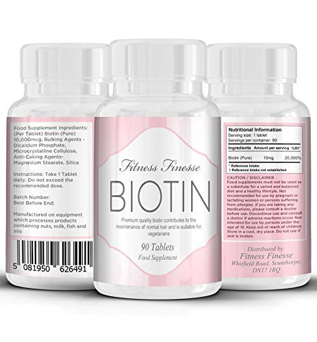 From 7.99:Biotin 10000 Mcg 90 Tablets | Biotin 10 Mg | Hair Vitamins | Biotin Hair Treatment Tablets | Hair Growth Supplement | Achieve Thicker Fuller Hair | Great For Skin And Nails | Safe And Effective | Manufactured In The Uk