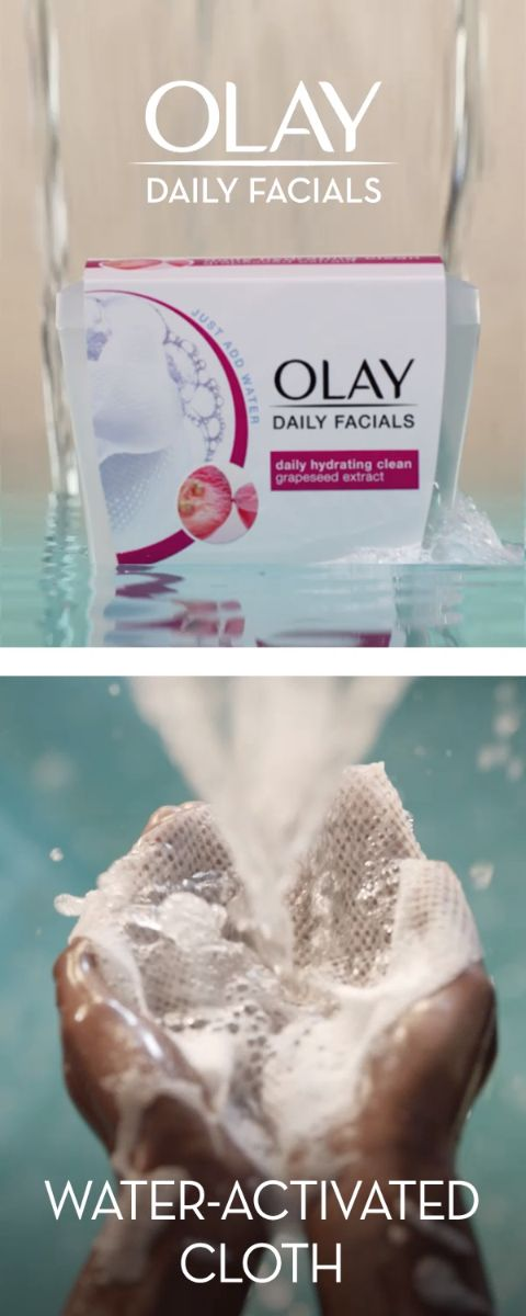 Refresh your makeup removal routine and your skin with the award-winning power of Olay Daily Clean 4-in-1 Water Activated Cloths. Rated the Best of 2017 by Women's Health, they have all the cleansing power of a scrub, toner, mask and cleanser to gently exfoliate skin. Use daily to remove dirt, oil and makeup—even mascara—2x better than basic cleansing. Shop today.