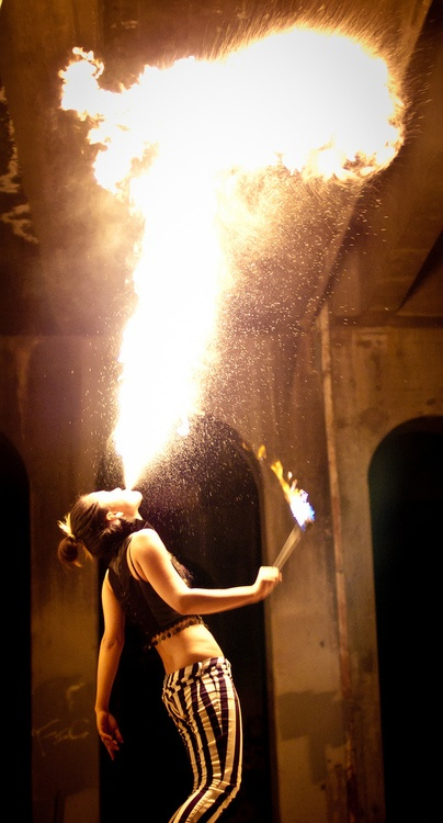 Fire eating/breathing