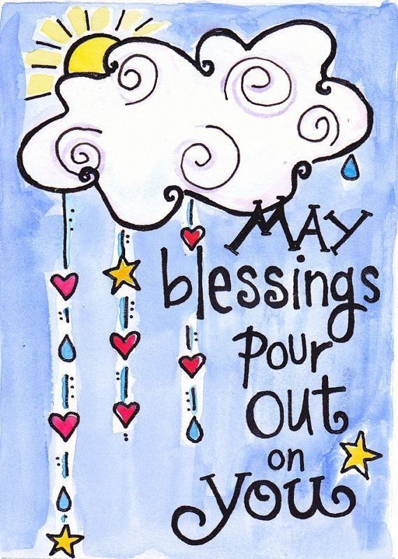 Happy Birthday Blessing Quotes Images: Bible Verse Blessings Pour Out Illustrated Watercolor