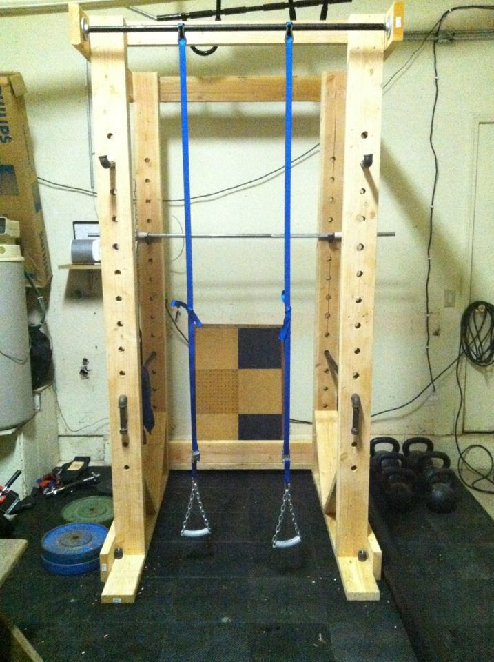 Diy power rack sigh to have more than just dumbbells