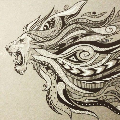 lion zentangles - Google Search