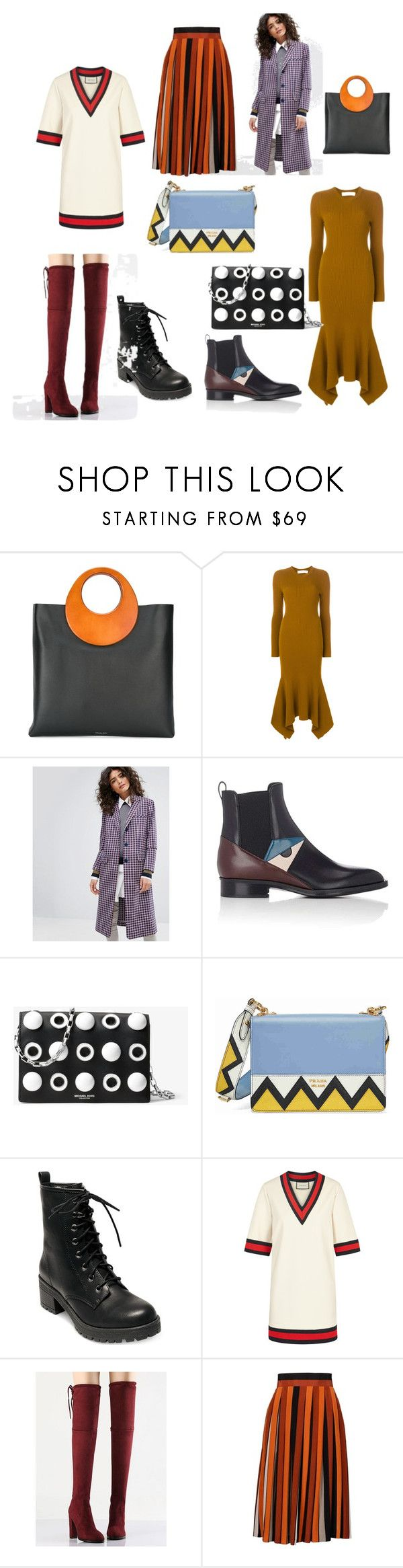 """шоппинг лист"" by lipatkinaiv ❤ liked on Polyvore featuring Michael Kors, Victoria Beckham, Sonia by Sonia Rykiel, Fendi, Prada, Madden Girl, Gucci, WithChic and Givenchy"