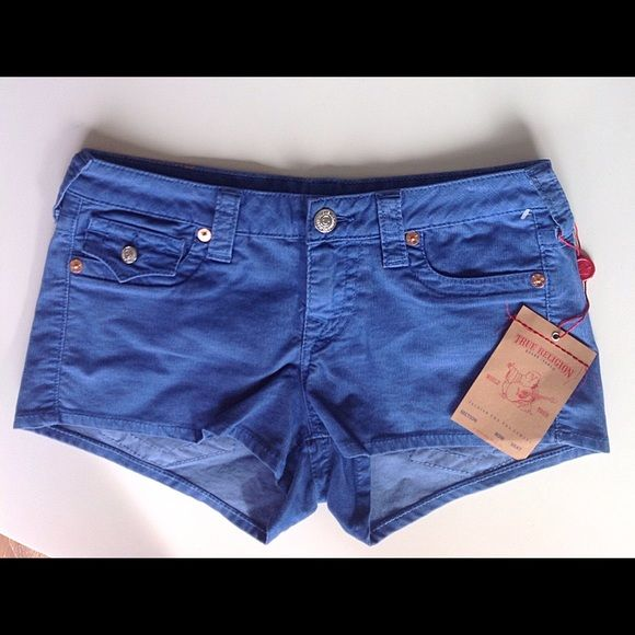 SALE TODAY ONLY True Religion corduroy shorts NWT True Religion Joey corduroy women's shorts. Royal Blue. NWT Just in time for summer.⛱⛱⛱ True Religion Shorts
