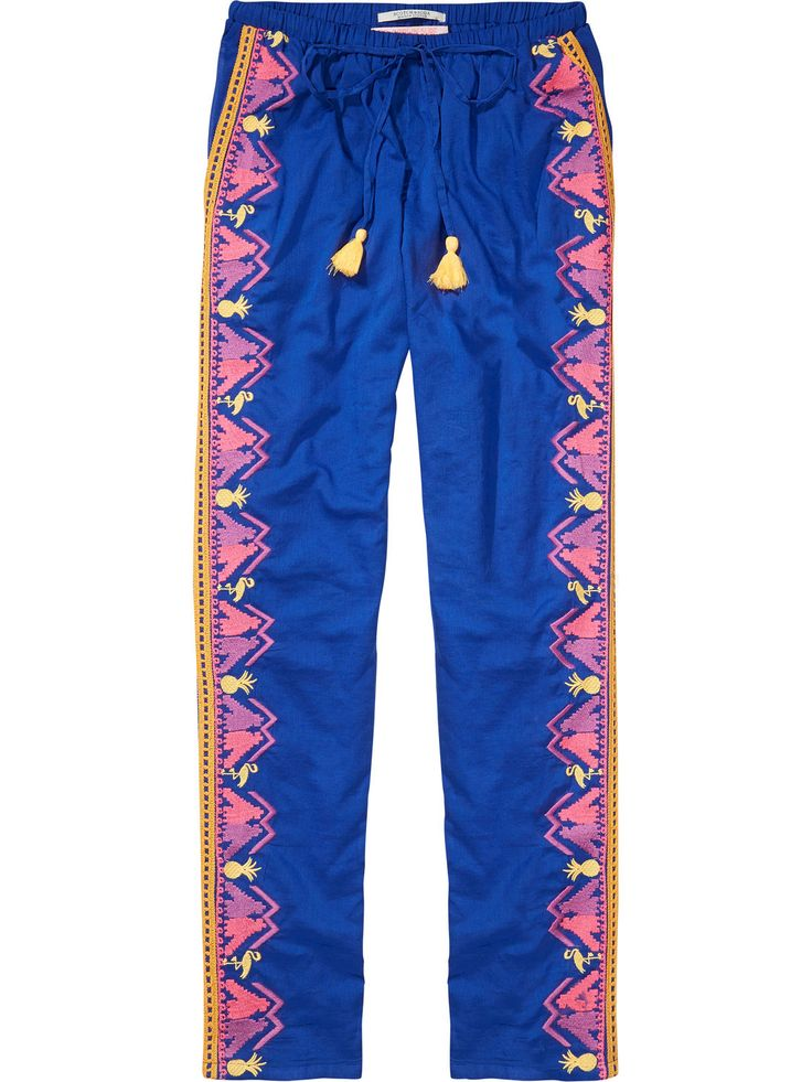 boho embroidered gypsy pants