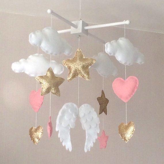 Giostrina bambino Baby girl mobile mobile angelo di EllaandBoo