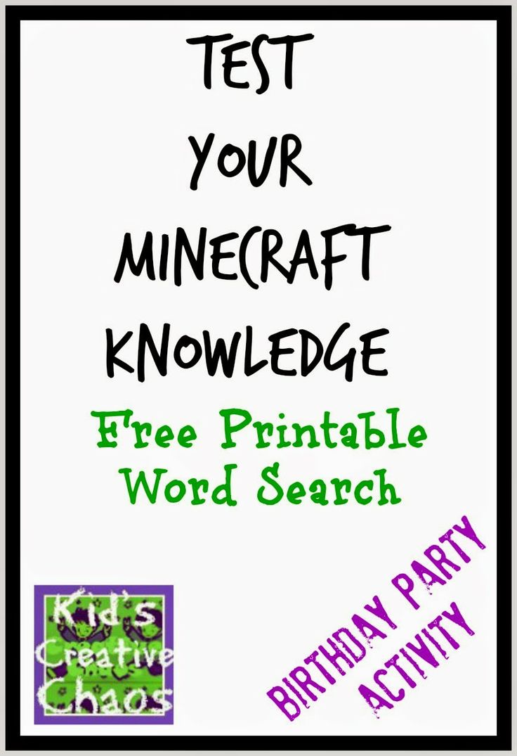 OUR FREE PRINTABLE MINECRAFT WORD SEARCH WILL TEST YOUR KNOWLEDGE OF MINECRAFT #minecraft