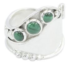 Malachite 925 Sterling Silver Ring captivating Multi supplies AU gift