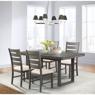 Simple Living Black and Grey 'Camden' 5-piece Contemporary Dining Set | Overstock.com Shopping - The Best Deals on Dining Sets