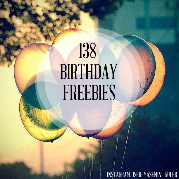 Your birthday is a special day, and what better way to celebrate your birth than to spoil yourself with freebies? Here is a list of birthday freebies you should totally take advantage of: