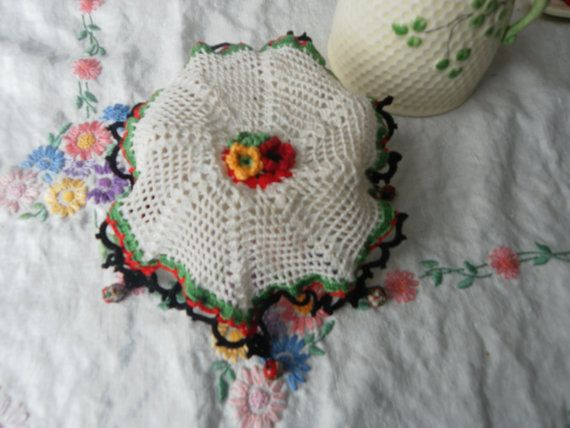 A Lovely Little Crochet Jug Cover. by LynTheobaldCraft on Etsy