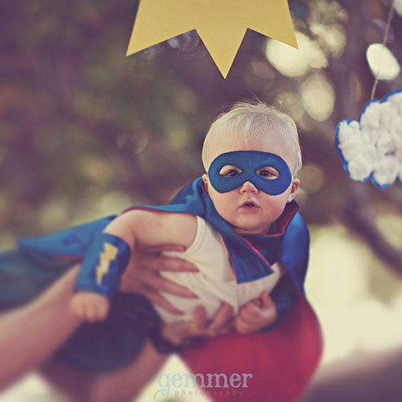 Superhero cape Super Hero Cape Custom Personalized by Woodfrock,: Halloween Costumes, Super Baby, Superhero Capes, First Halloween, Baby Costumes, Super Heroes Birthday, Photo Shoots, Super Heroes Costumes, Halloween Ideas