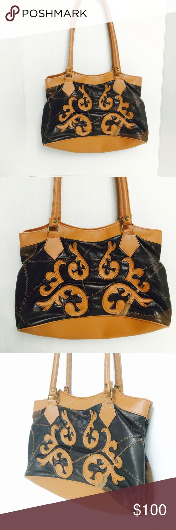 Leather Western Gold Coast Handbag Purse! Like new! goldcoast Bags