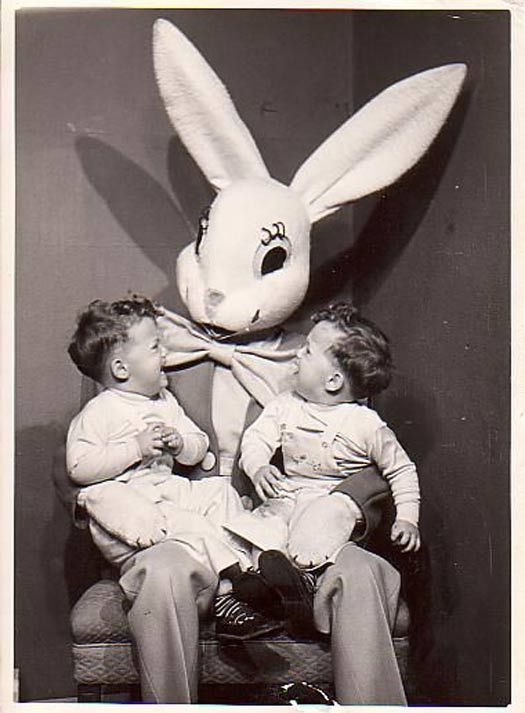 Vintage Scary Easter Bunny | 37 Creepy Easter Bunny Pics That'll Make Ya Fill Your Basket