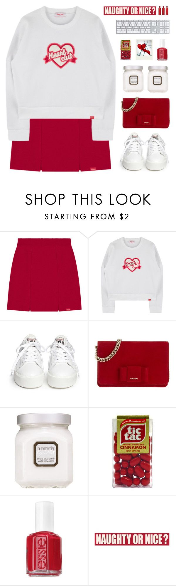 """""""Heart Club"""" by dianakhuzatyan ❤ liked on Polyvore featuring Ash, Miu Miu, Laura Mercier, Polaroid, Essie, Sixtrees, Cultural Intrigue, polyvoreeditorial and organized"""