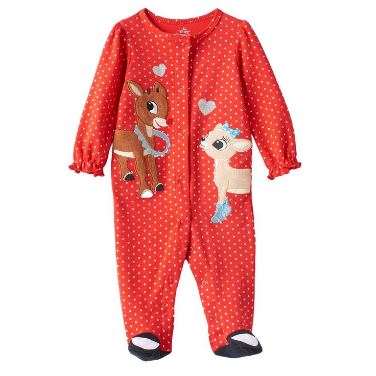 Baby Girl Rudolph the Red Nosed Reindeer Rudolph & Clarice Sleep & Play, Size: 3 Months