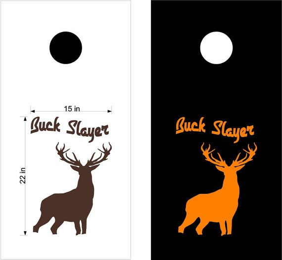 Deer Buck Hunting Cornhole Board Decals Stickers Graphics Wrap Bean Bag Toss HFB08