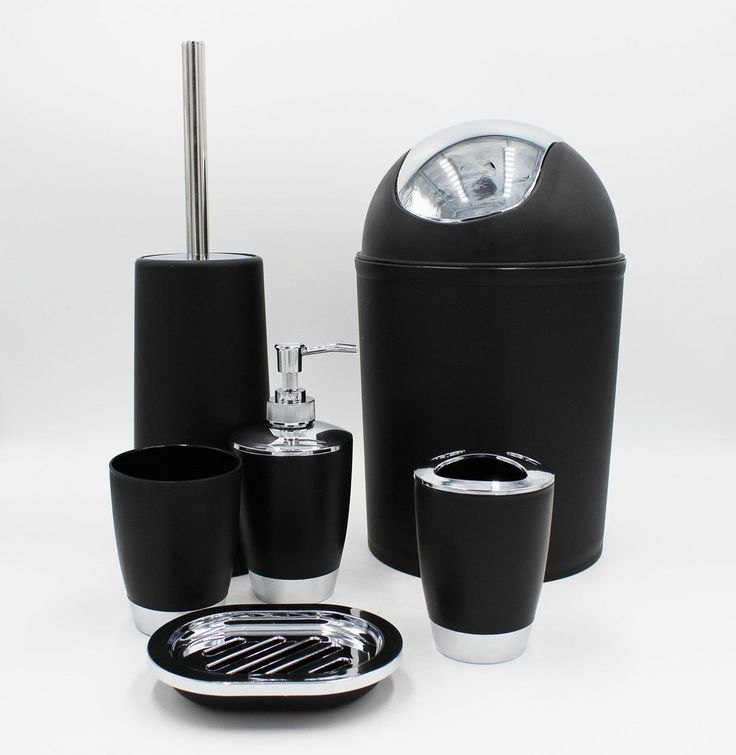 Elegant 6 piece bathroom accessories set - Black. Visit us now and ENJOY 10% OFF + FREE SHIPPING on all orders