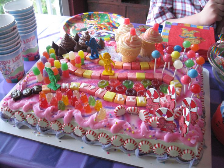 Candy Land Party Theme Decorations | My sister Janae decorated this Candy Land cake, She did such a ...