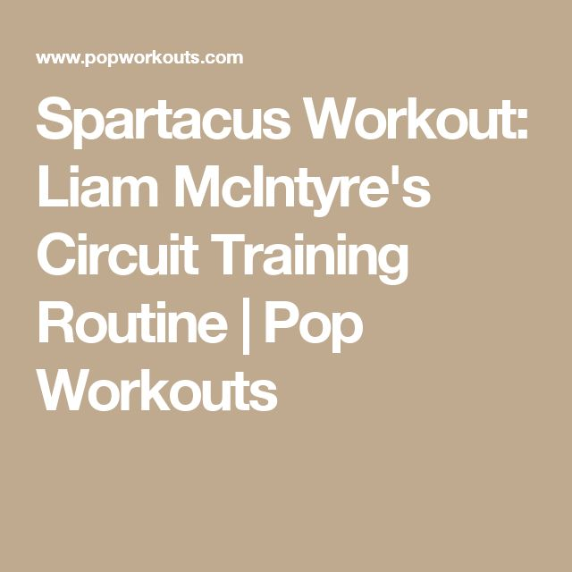 Spartacus Workout: Liam McIntyre's Circuit Training Routine | Pop Workouts