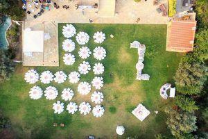 Τα κτήματα γάμου Πανταζή από drone