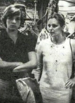 Miguel Bosé con su madre Lucía Bosé