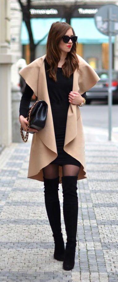 #winter #fashion / camel + knit